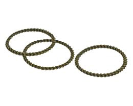1 Jewellery Connectors Rings Bronze Closed 25mm