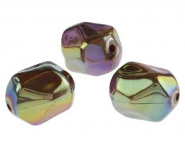 1 Vintage Acrylic Beads Scarabe Nugget Bead 25mm