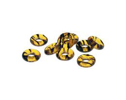 10 Czech Glass Beads Tortoise Shell O Bead 9.6mm