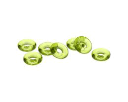 10 Czech Glass Beads Olivine Green O Bead 9.6mm