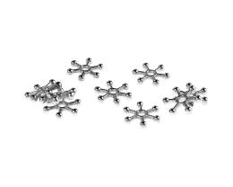 20 Metal Beads Silver Snowflake Bead 1mm x 11.5mm
