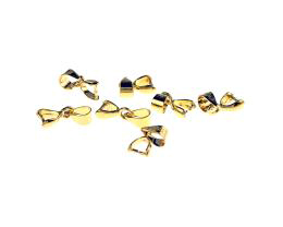 1 Pendant Bails Gold Plated Pinch Bail 8.5mm
