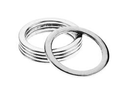 1 Jewellery Connector Rings Silver 33mm