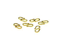 1 S-Hook Clasps Gold Plated Jewellery Clasp 11.5mm