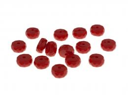 8 Vintage Acrylic Beads Faceted Red Spacers 4mm