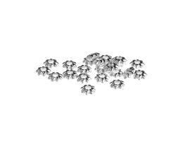 25 Metal Beads Silver Plated Daisy Bead 5.5mm