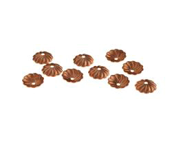 12 Bead Caps Solid Copper Fluted Bead Cap 7.4mm