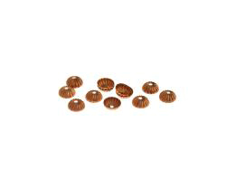 12 Bead Caps Solid Copper Flower Bead Cap 4.5mm