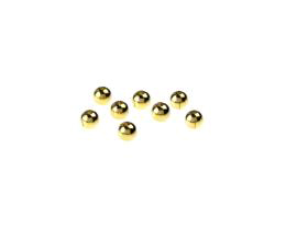 50 Metal Beads Solid Brass Round Spacer Bead 4mm