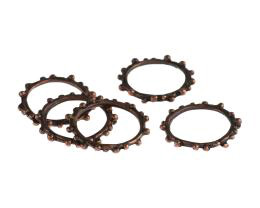 1 Jewellery Connector Rings Antique Copper 20mm