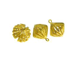 1 Metal Charms Gold Wire Filigree Drop Charm 18mm