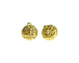 1 Metal Charms Gold Floral Openwork Charm 15mm