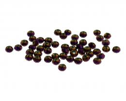 50 Glass Beads Purple Faceted Rondelle 3mm x 4mm