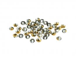 50 Glass Beads Bronze Faceted Rondelle 3mm x 4mm