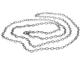 1 Vintage Necklace Chains Silver Plated Cable 69cm