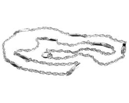 1 Vintage Necklace Chains Silver Plated Rope 40cm