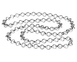 1 Vintage Necklace Chains Silver Plated Rolo 45cm