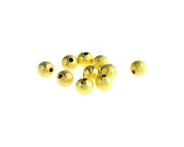 20 Metal Beads Gold Stardust Round Spacer Bead 6mm