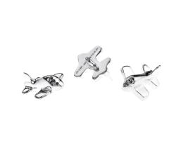1 Vintage Metal Charms Silver Plated Plane Charms 18mm