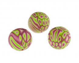 1 Handmade Polymer Clay Beads Retro Lace 17mm
