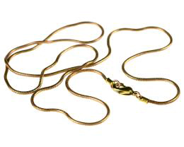 1 Necklace Chains Brass Snake Chain Necklaces 45cm