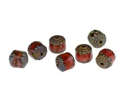 1 Czech Glass Beads Autumn Tone Cathedral 10mm