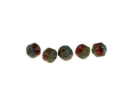 5 Czech Glass Beads Autumn Tone Cathedral Bead 8mm