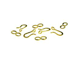 1 Hook Eye Clasps Brass Figure Eight Clasp 13mm