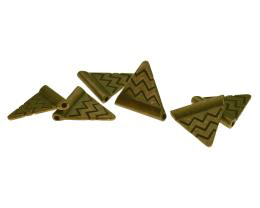 5 Metal Beads Bronze Triangle Flag Bead 14mm