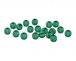 20 Czech Glass Beads Emerald Pressed Druk Bead 6mm