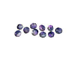 10 Czech Glass Beads Purple Haze Faceted 6mm