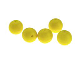 1 Czech Glass Beads Yellow Opaque Druk Bead 12mm