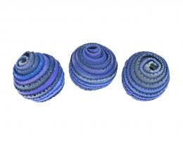 1 Handmade Polymer Clay Beads Wrapped Seas 19mm