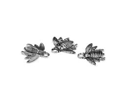 1 Metal Charms Antique Silver Bee Charms 16mm