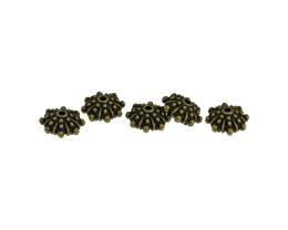 5 Metal Beads Bronze Rondelle Bead 6mm x 11mm