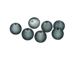 10 Glass Beads Dark Grey Frosted Bead 11mm
