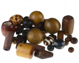 1 Wooden Beads Assorted Mixed Wood Bead