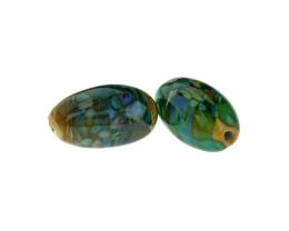 1 Handmade Lampwork Glass Beads Sea Bottom Focals