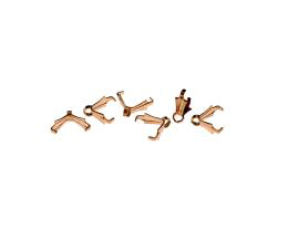5 Pendant Bails Solid Copper Pinch Bail 8mm