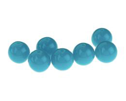 10 Acrylic Beads Teal Blue Round Plastic Bead 12mm