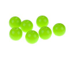 10 Acrylic Beads Green Round Plastic Beads 12mm