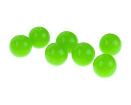 10 Acrylic Beads Green Round Plastic Bead 12mm