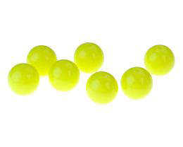 10 Acrylic Beads Yellow Round Plastic Bead 12mm