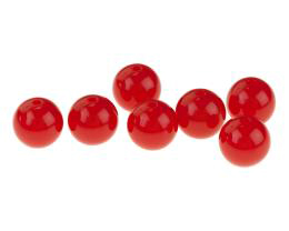 10 Acrylic Beads Lipstick Red Round Beads 12mm