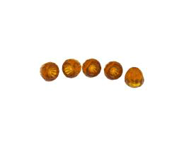 5 Czech Glass Beads Topaz Bell Flower Bead 8mm