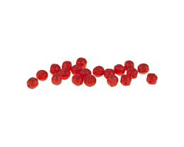 20 Czech Glass Beads Coral Red Melon Bead 5mm