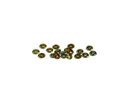20 Czech Glass Beads Marea Metallic O Bead 4mm