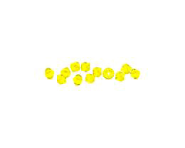10 Czech Glass Beads Citrine Yellow Bicone 4mm