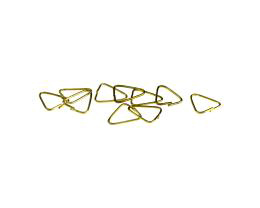 10 Pendant Bails Solid Brass Triangle Bail 9mm
