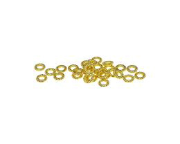 15 Jump Rings Gold Plated Closed Jump Ring 4.5mm